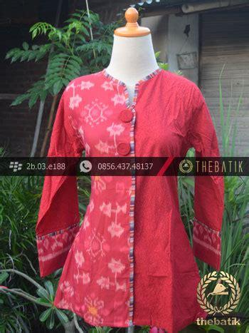 Kain Batik Wayang Katun Embos jual model baju batik kerja wanita merah ikat thebatik