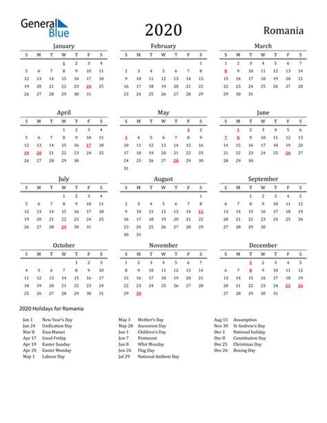 calendar romania  holidays