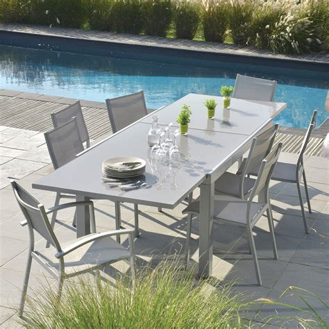 table jardin table extensible rectangulaire tables de jardin tables chaises bancs mobilier