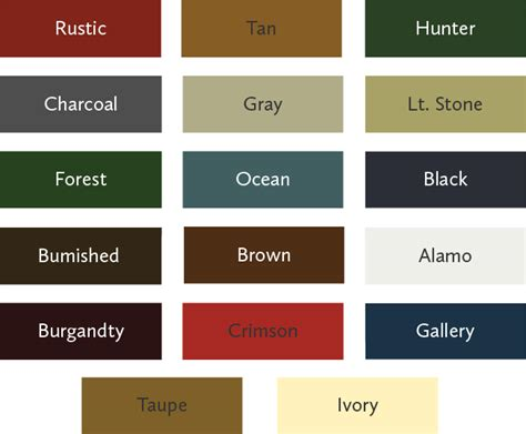 metal siding colors choosing the right color s for your storage building or
