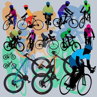 cuadros de bicicletas de monta a fotomural las bicicletas de monta 241 a y los ciclistas