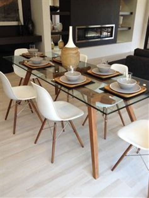 Start With Pier Bennett Dining Table Base And Our Rectangle Glass Table Top And Then Surround Your Table With Plenty Of Button Tufted Table Top Design