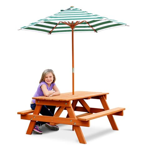 Children S Picnic Table With Umbrella by Gorilla Playsets 02 3003 Children S Picnic Table And