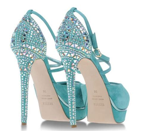 aqua high heel shoes 161 best turquoise high heels images on high
