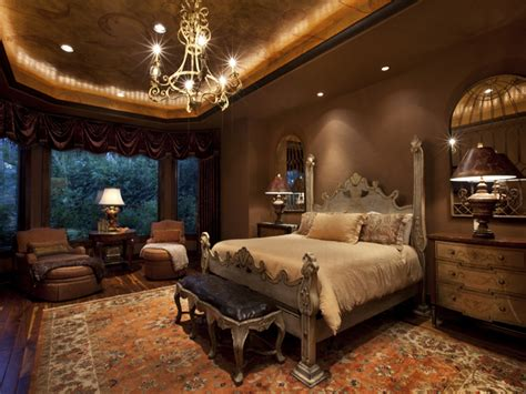 romantic  luxurious tuscan bedrooms decorating room