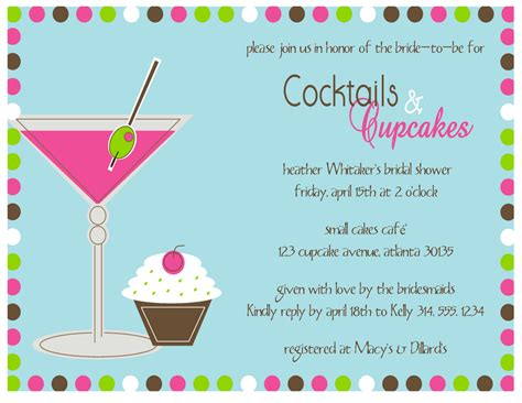 cocktails invite the paperie cocktails and cupcakes invitation