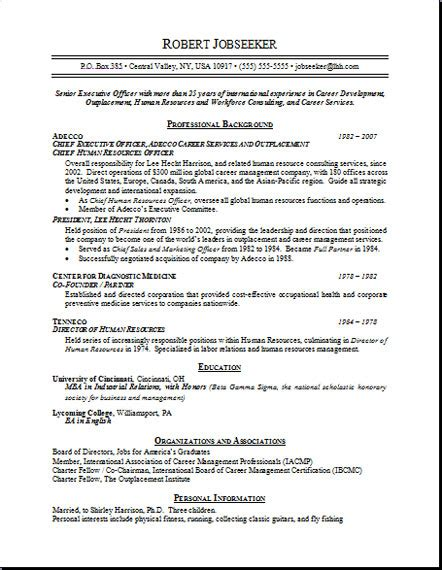 sle of resume free resumes
