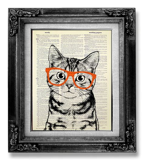 free printable wall art cat decorative art cat art wall hanging cat print cat poster