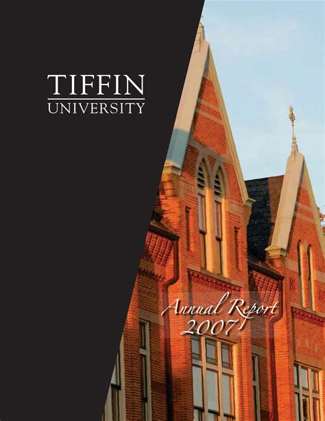 Tiffin Mba Accreditation by 2007 Annual Report By Tiffin Issuu