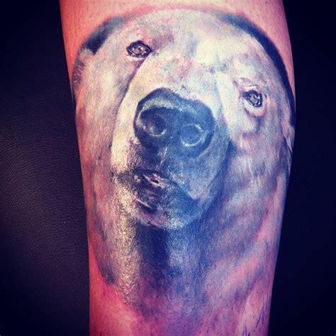 realistic portrait of a polar bear tatoo jpg 612 215 612