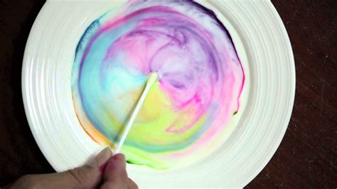 milk and food coloring science with milk food coloring and dish soap