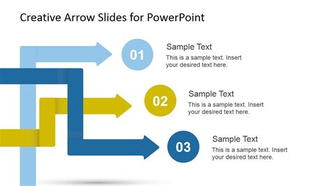 Creative Arrow Slides Template For Powerpoint Slidemodel Creative Templates For Powerpoint