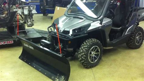 2012 can am commander ltd with hydrolic plow angle and dot windshield quot c c sports quot