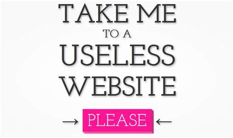 The Useless Web is a portal to the web's best time wasters ... Useless Websites Game