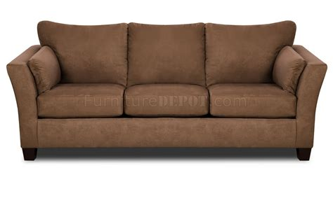 brown microfiber modern sofa loveseat set w optional