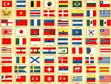 drapeaux du monde & Allemagne , in Meyers Konversationslexikon (1889 ...