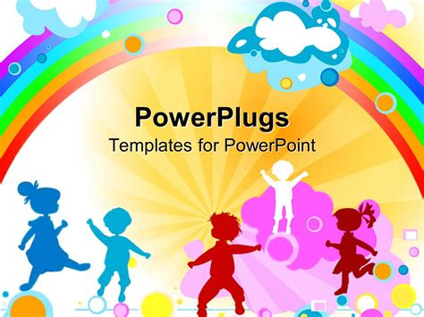 free preschool powerpoint templates powerpoint template a number of with rainbow in the