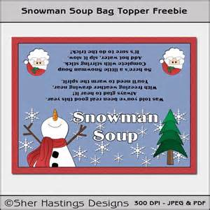 Diy printable bag topper snowman soup by stacys sweet stuff catch
