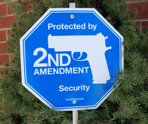 Cctv Second 2nd amendment security yard sign 187 awesome you can buy