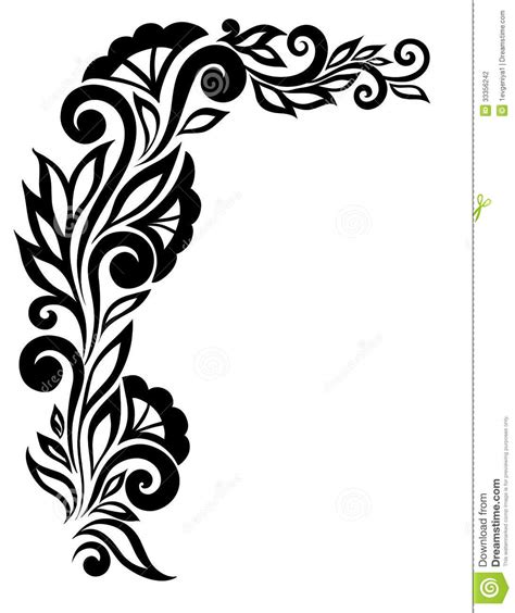 Images Of Designs Flower Designs Black And White Cliparts Co