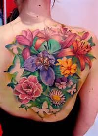 Flowers Back Tattoo  Matteo Pasqualin The Best Flower Tattoos