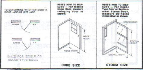 how to measure a door a m mobile home rv parts