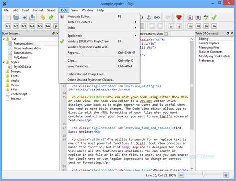 creating ebooks with elml using epub format sigil ebook editor