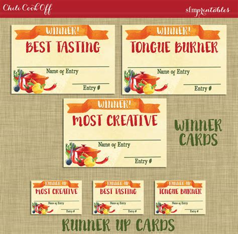 chili cook certificate template instant chili cook winner badges labels