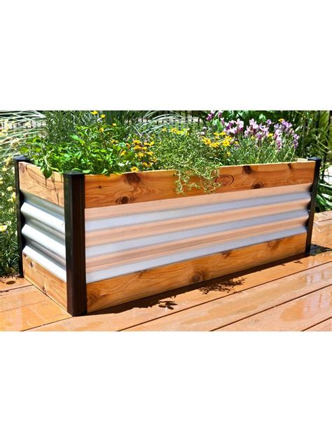 corrugated metal raised garden beds corrugated metal and wood raised bed garden beds