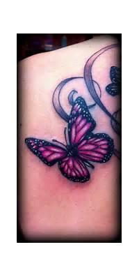 Pink Butterfly Tattoo Image  Tattoobitecom