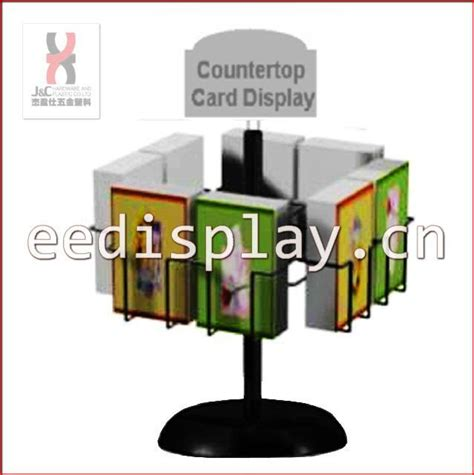 metallic countertop giftcard display rack and stand