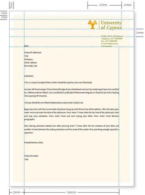business letterhead guidelines letterhead