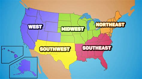 5 regions of the united states printable map categories ambassadors kizomba community