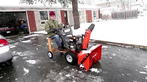 riding snowblower youtube