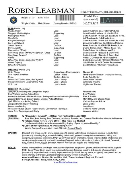 actor resume template boost career 25 unique acting resume template ideas on