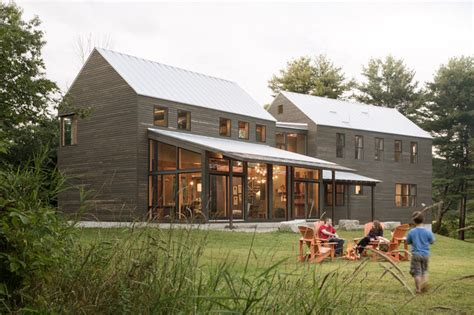 New England Saltbox House by Ben S Barn Transitional Exterior Portland Maine By