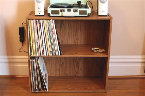 vinyl record shelf the surznick common room