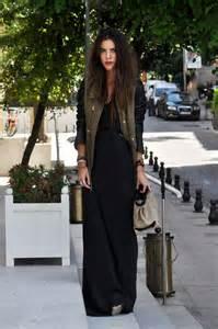 Jaket black maxi dress wit delight long dresses fashion street