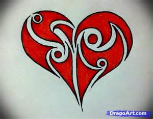 Heart designs to draw for pinterest
