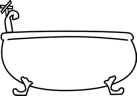 bathtub outline bathtub clip art at clker com vector clip art online
