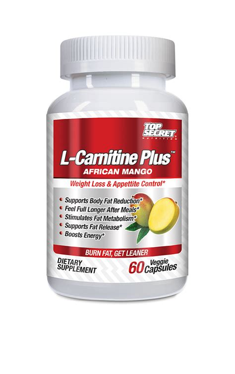 l carnitine weight management top secret nutrition announces the release of its