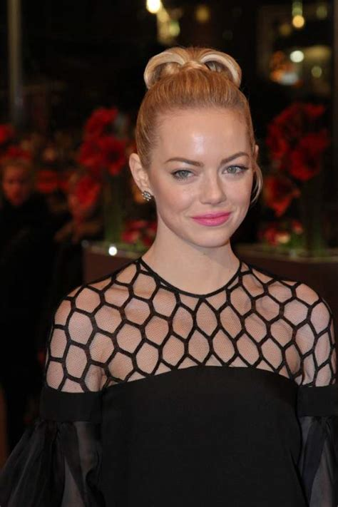 2013 film with emma stone emma stone wows in black gucci dress at berlin film festival