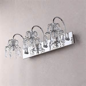 Ovida chrome crystal bath vanity light modern bathroom lighting and