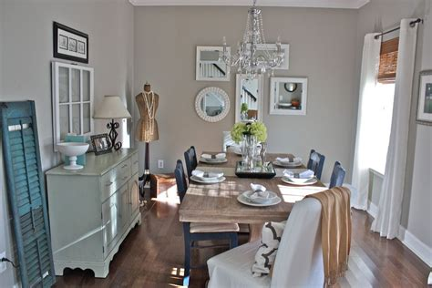 sherwin williams anew gray for a shabby chic style dining