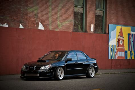 subaru impreza stance image subaru impreza sti stance black side automobile