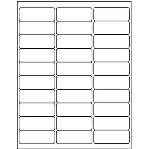 avery template 18660 avery 174 processing labels clear inkjet 1 quot x 2 5 8