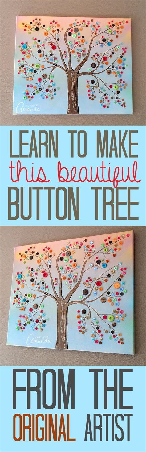pin by falesha amanda on for the home pinterest button tree a beautiful canvas project full of vibrant colors