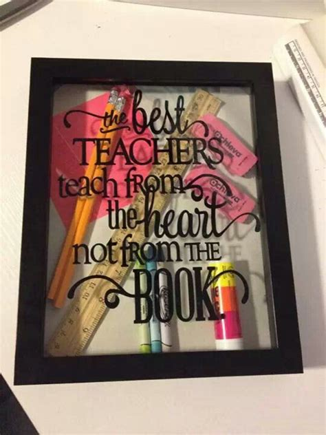ideas for teachers shadow box gifts pictures