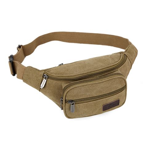 Waist Pack Pouch Outdoor unisex canvas walking waist pack pack outdoor sport waist bag bum bag money pouch for