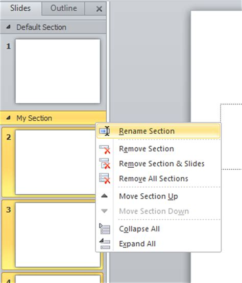 organizing slides in powerpoint into sections powerpoint
